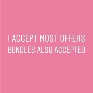Offers and bundles accepted
